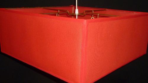 lampara colgante cuadrada de 50 x 50 cm x 20 cm de altura