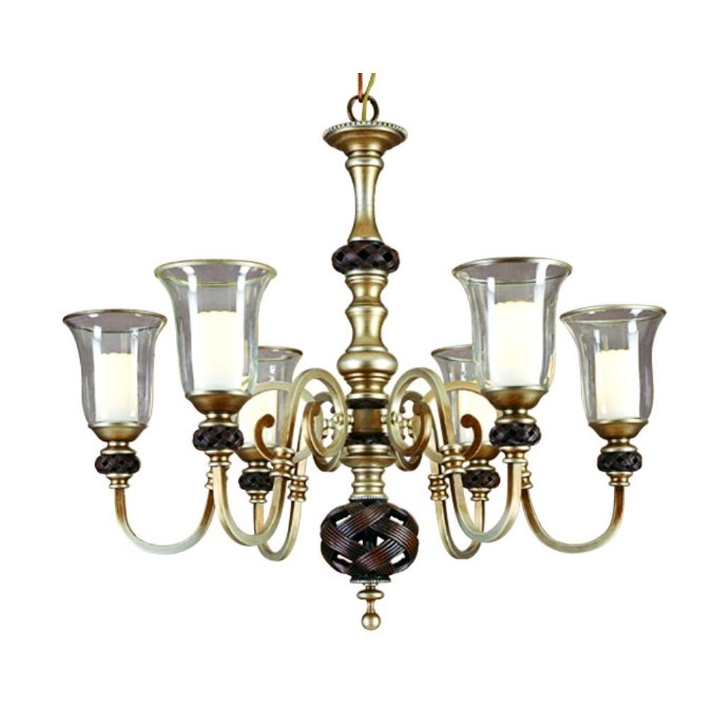 L mpara colgante de 6 luces san angel 6 en - Precios de lamparas ...
