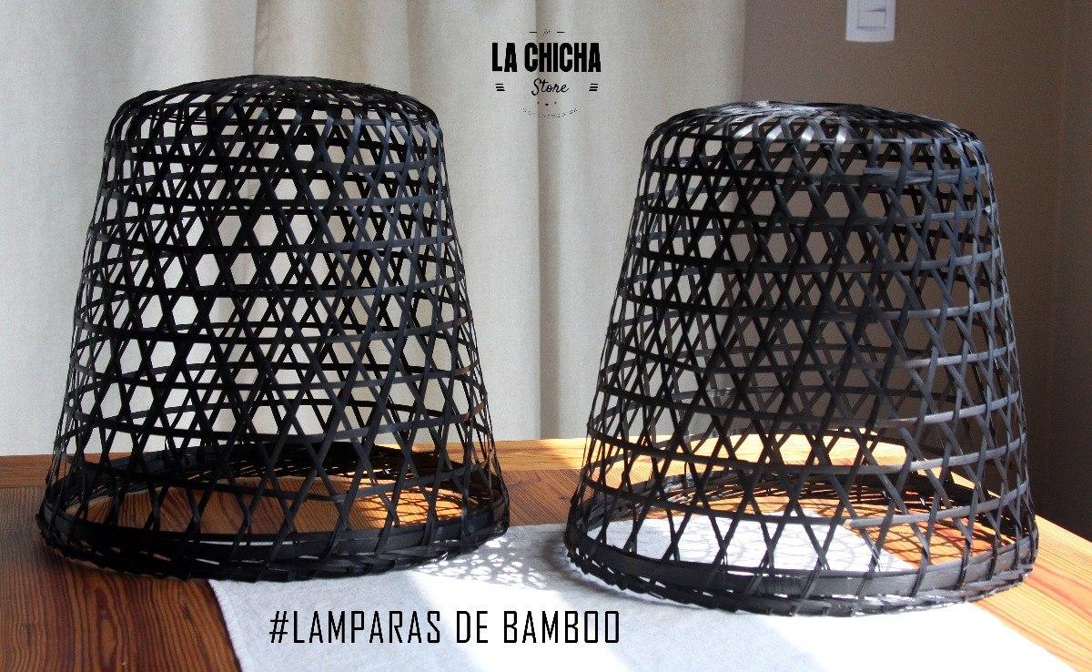BambooMimbreRattan Lampara Vietnam Marron De Colgante De R4jqAc35L