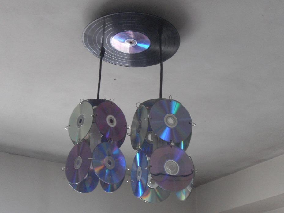 lampara colgante de diseo con cd