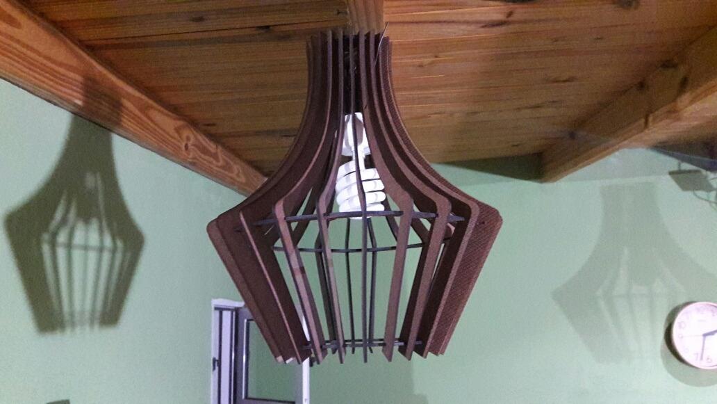 Colgante Reciclada Diseño De 100Argentina Madera Lampara EW2I9DH