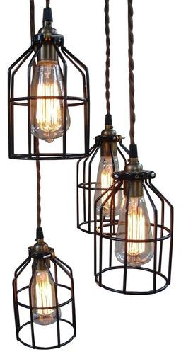 lampara colgante de rejilla minimalista industrial lr2