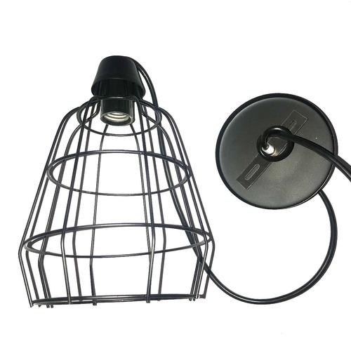 lampara colgante de rejilla minimalista industrial lr3
