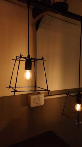 lampara colgante de techo 1 luz farol hierro