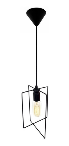 lampara colgante de techo 1 luz veleta hierro