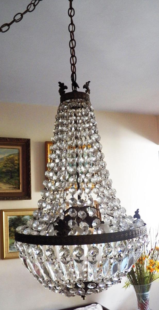 Bs50 00 Bronce Y De Antigua Techo 000 Cristal Colgante Lámpara En uTkZPOXi