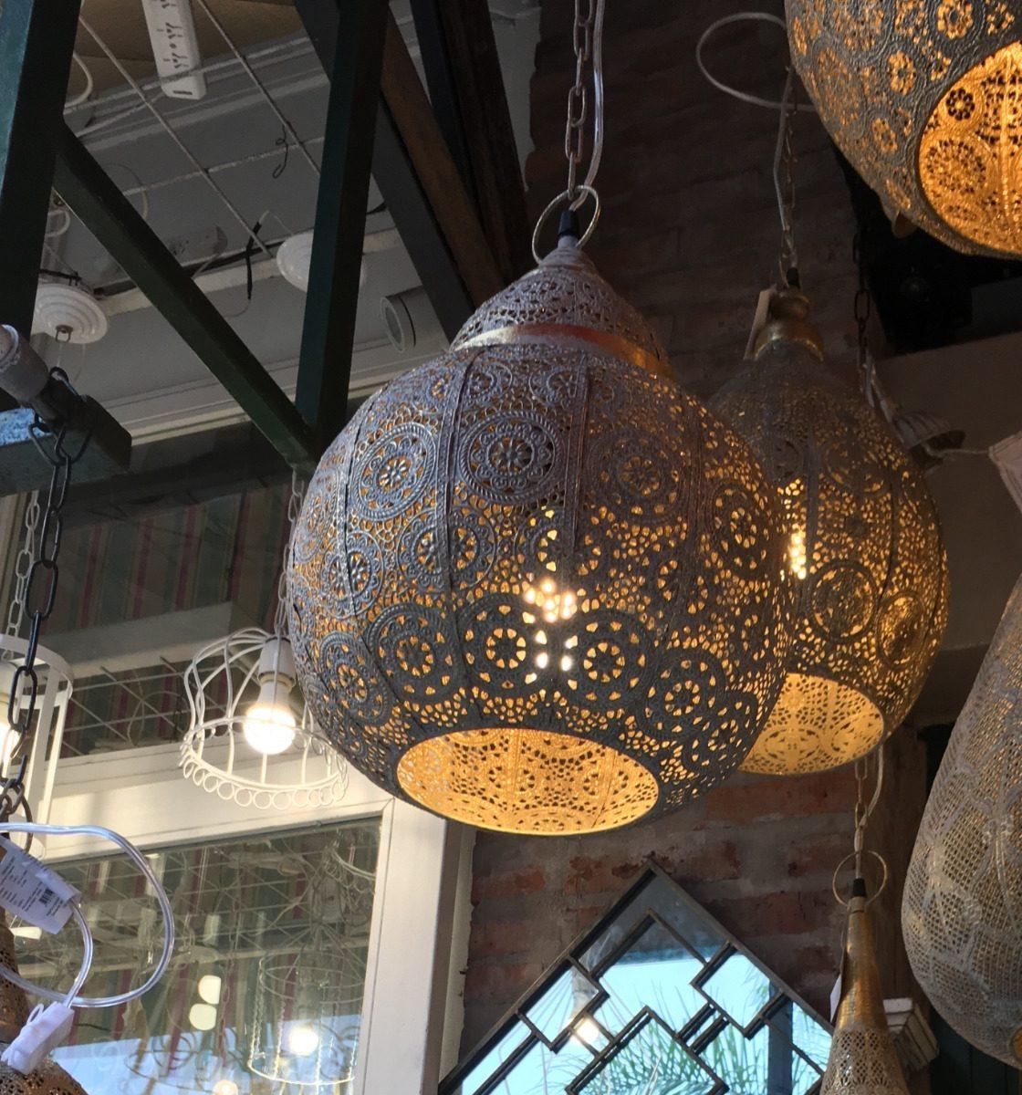 Metal Calada Lampara De Techo Nº7 Maroqui Colgante Marruecos vm8nOy0Nw