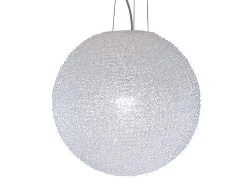 lámpara colgante decorativa acero niquel satinado e27 1 luz