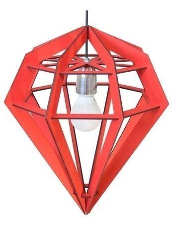 lámpara colgante diamante