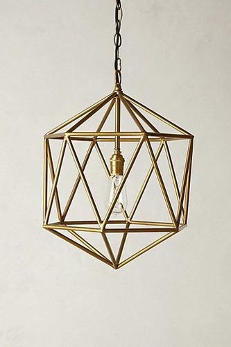 lampara colgante diamante en  hierro.