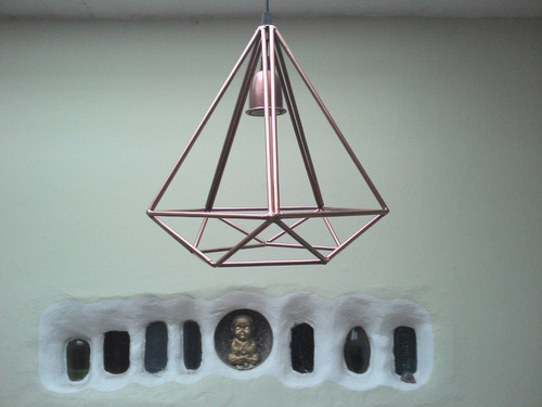 lampara colgante diamante en hierro