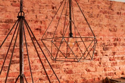 lampara colgante diamante xl hierro linea minimal [bror]
