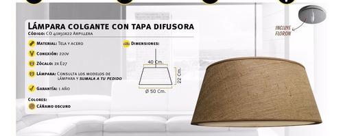 lampara colgante difusor luces bajo consumo led  diam 50 cm