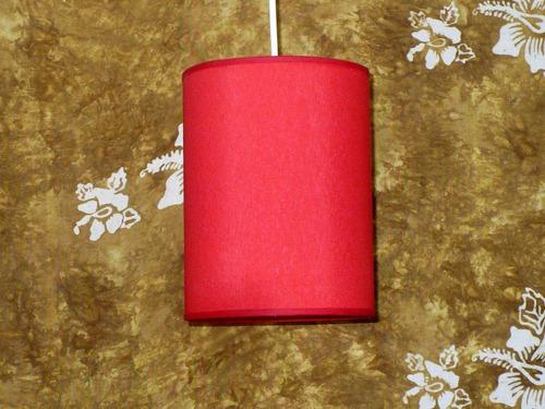 Pr En Roja 2 Cm Lámpara Colgante Sd 15 Al 15 0 Tela Yb76gyvf