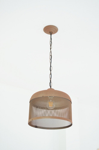 lampara colgante estilo industrial color oxido 28cm