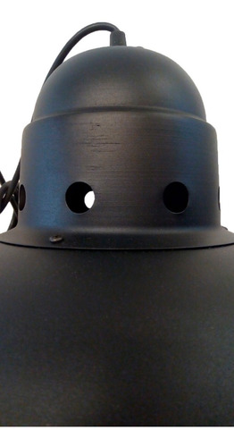 lampara colgante galponera campana negro aluminio e27 220v