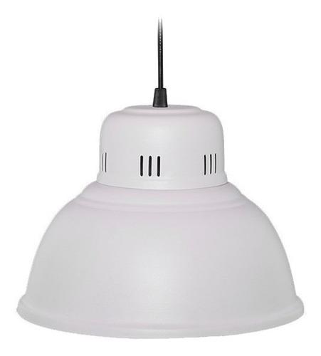 lampara colgante galponera industrial en chapa galvanizada