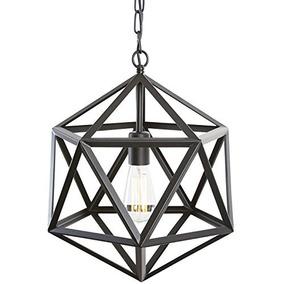 Lámpara Colgante Geodésica Light Society, Negro Mate, Acceso