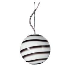 lampara colgante globo de vidrio opal rayado