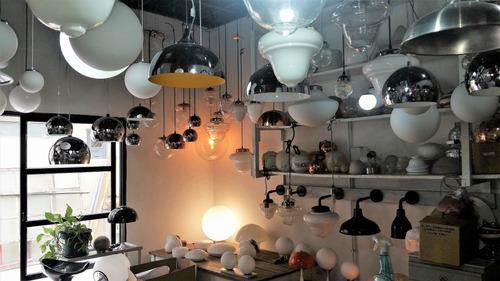 lampara colgante globos vidrio opal sat.2 luces