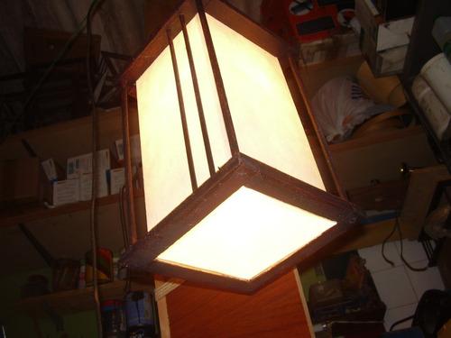 lampara colgante imitacion hierro oxido rustica