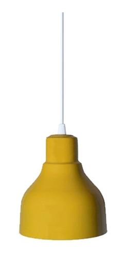 lampara colgante industrial campana en aluminio apto led