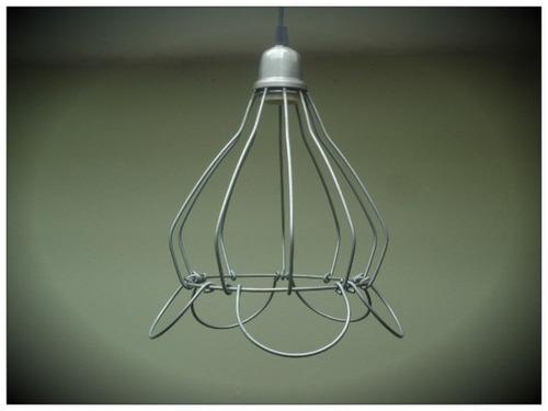 lampara colgante industriales  alambre decoracion
