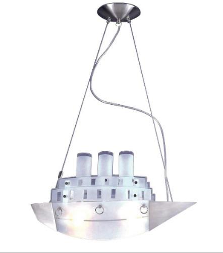 lámpara colgante infantil  en forma de buque de vapor
