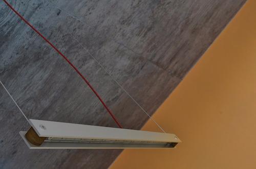 lampara colgante led aluminio diseño moderno / largo 68cm