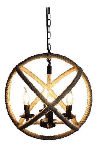 lampara colgante leuk rhea soga cuatro luces e14 deco living
