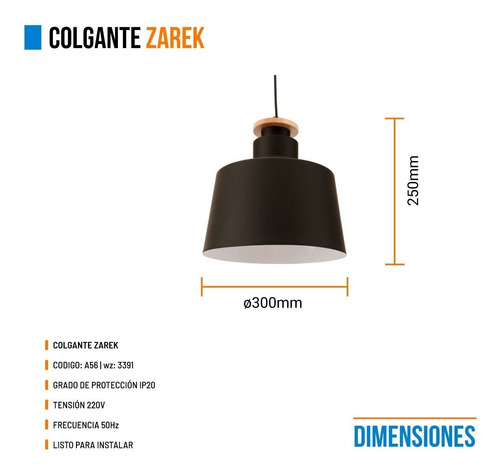 lampara colgante leuk zarek moderno negro blanco 1 luz e27