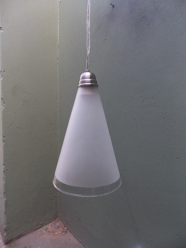lampara colgante living vidrio satinado super oferta!! cono
