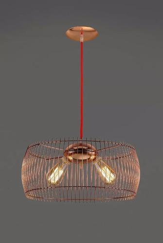 Lampara Colgante Manda Cobre 40cm 2 Luces Diseño Artyluz Lmz ...