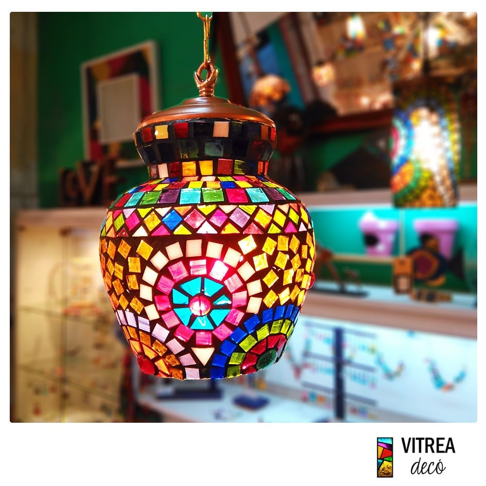 Colgante Marroquí Lámpara Vidrios Turca Árabe Multicolores XuOkPiZT
