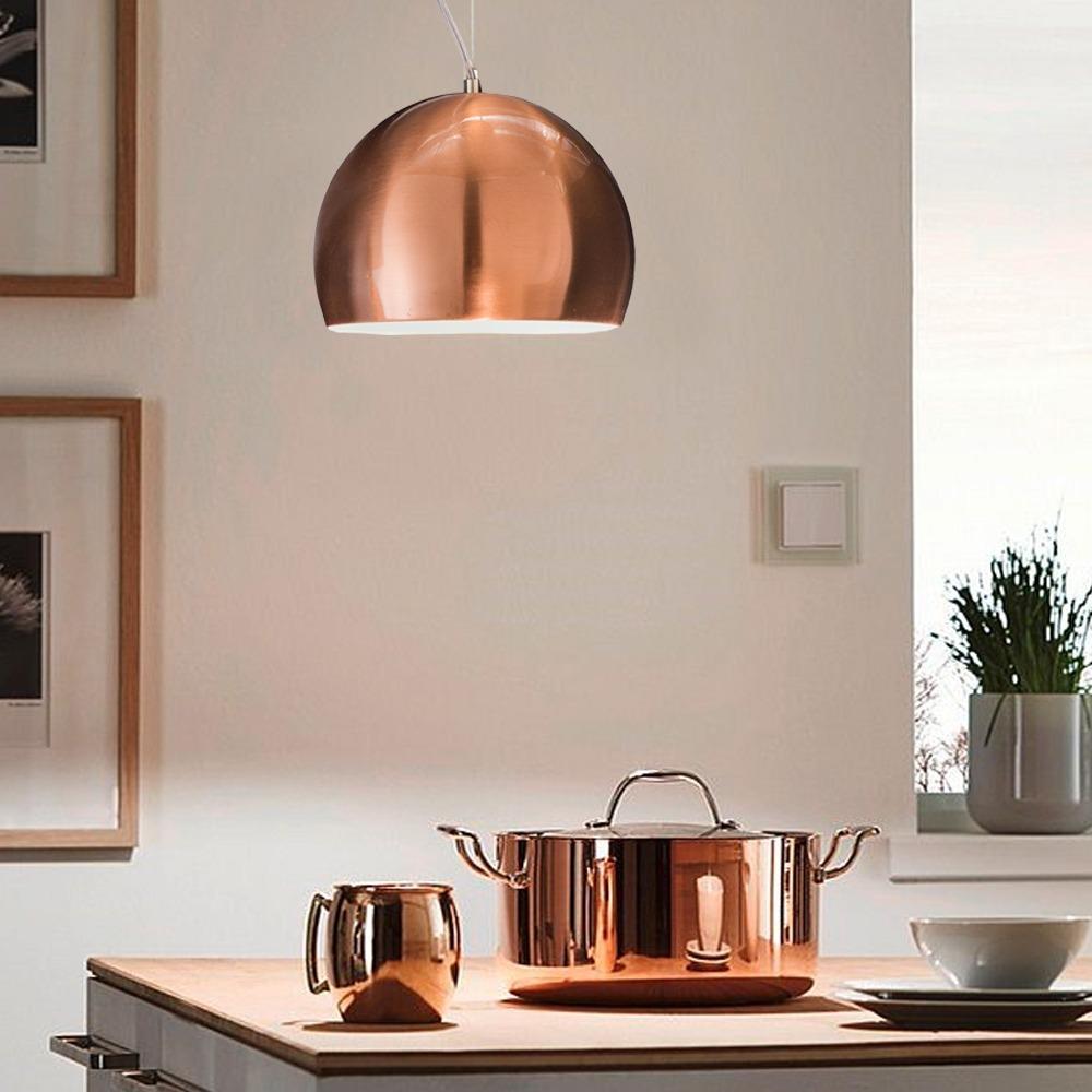 Lampara Colgante Moderna 3 Luces Cobre Regulable Comedor Led  ~ Lamparas Colgantes Modernas Para Comedor