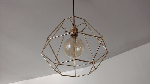 lampara colgante octogonal hierro  retro vintage edison