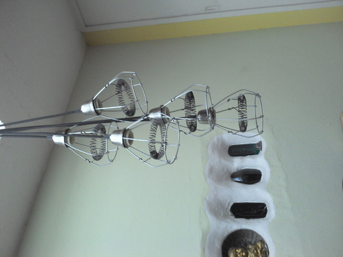lámpara colgante ramillete con resortes apto led e27