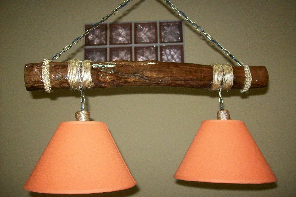 Lamparas colgantes de madera excellent lampara colgante - Como hacer lamparas de techo artesanales ...