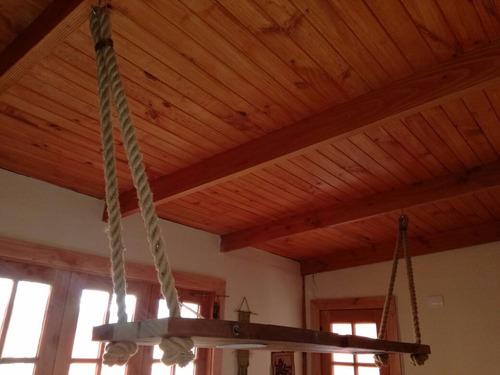 lampara colgante rustica en madera nativa  a pedido
