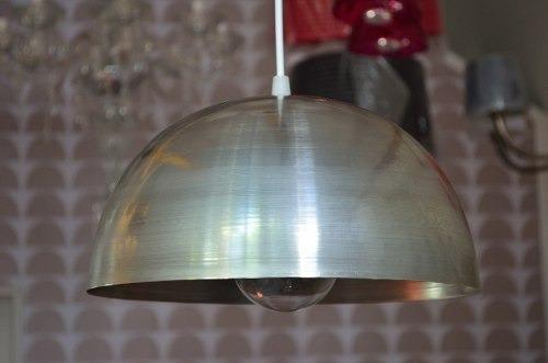 lampara colgante semi esfera 30cm hierro laqueado