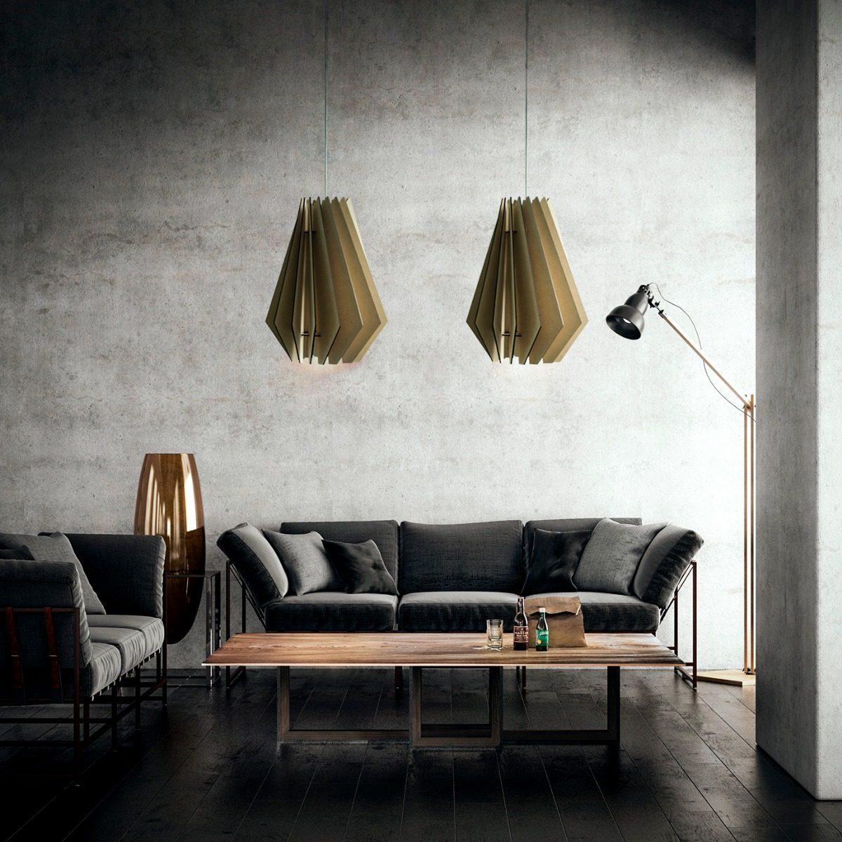 Lampara Colgante Sombra Madera Diseño Living Comedor - $ 1.399,00 en ...
