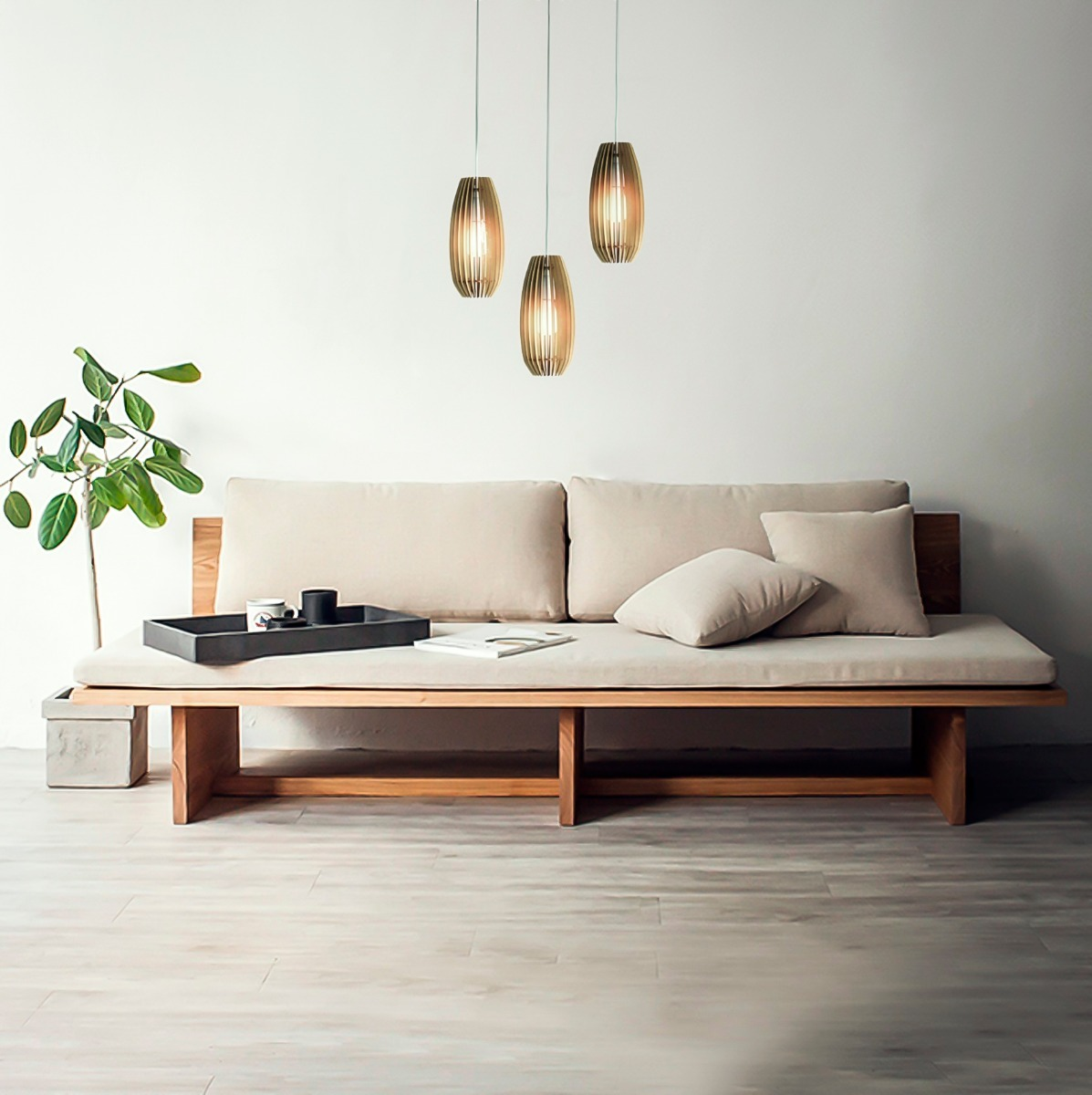 Lampara Colgante Sur Madera Diseño Living Comedor - $ 999,00 en ...