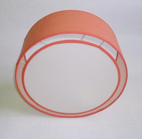 lampara colgante tambor de 50 cm de diámetro con difusor
