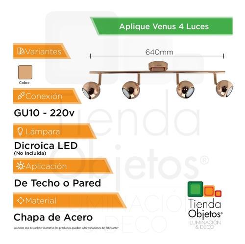 lampara colgante techo aplique venus cobre 4 luces cobre