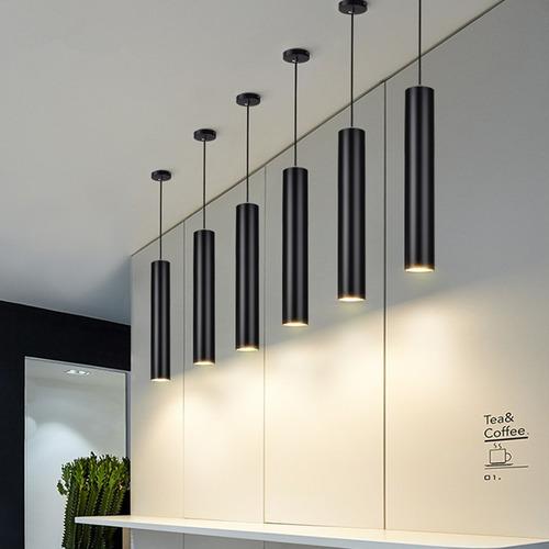 lampara colgante techo cocina barra bar tubular led venezzi