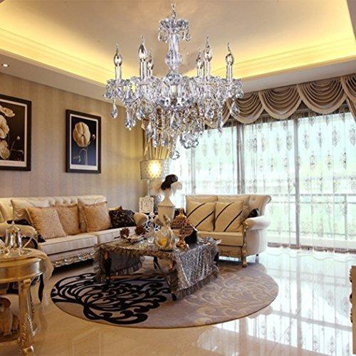lampara colgante techo cristal chandelier baccarat  6 brazos