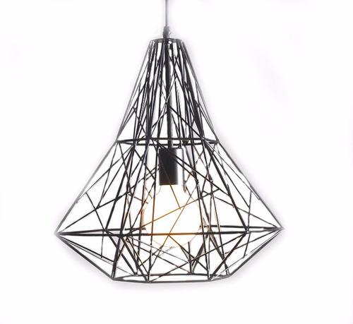 lampara colgante techo diseño diamante metal 17134/ fernapet