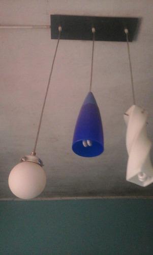 lámpara colgante triple