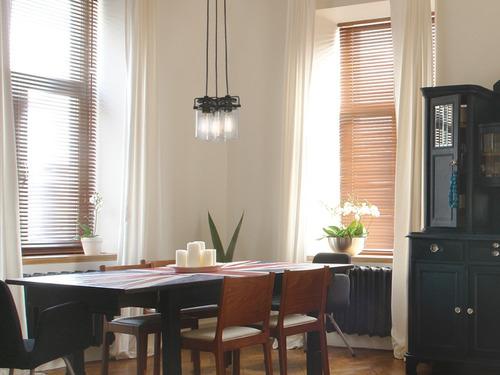 lámpara colgante vintage acero negro mate e27 40w 3 luces