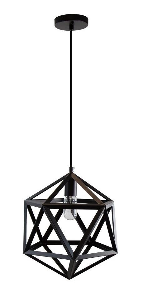 1 E27 60w Negro Lámpara Mate Colgante Vintage Hexágono Luz SpUjqzMLVG